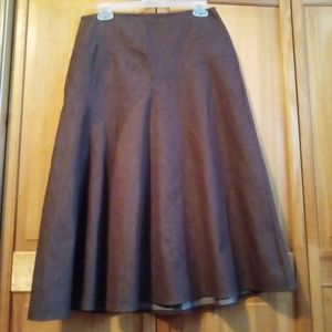 🦉 CATO A-line fluted skirt size 4 brown